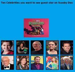 My Scooby-Doo Celebrity List by ChipmunkRaccoonOz