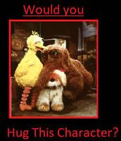 Would you hug Big Bird, Snuffy, and Barkley? by ChipmunkRaccoonOz