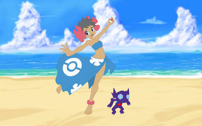 Phoebe and Sableye in Alola