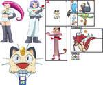 Jessie, James and Meowth in Pokemon: A+SBA