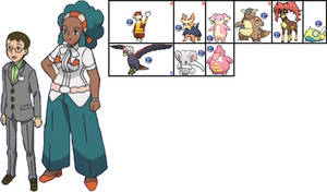 Hawes and Lenora in Pokemon: A+SBA