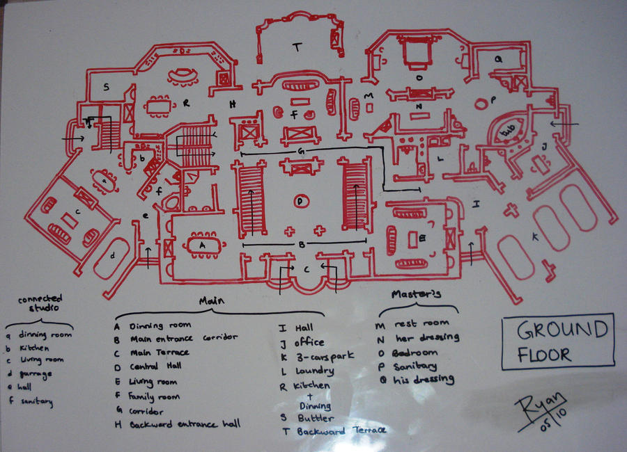 My ideal house plan 1 by daretowatch on deviantart for Ideal house plan