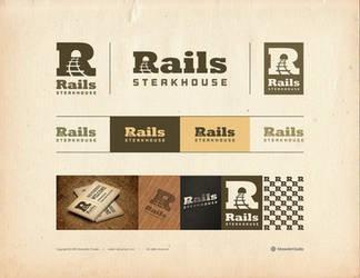 Rails Steakhouse Logotype by Osokin