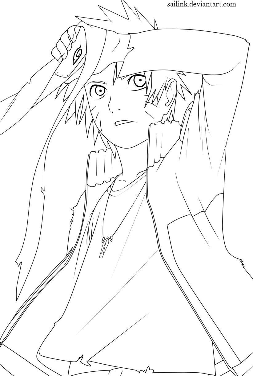 Naruto Lineart : Naruto lineart by sailink on deviantart