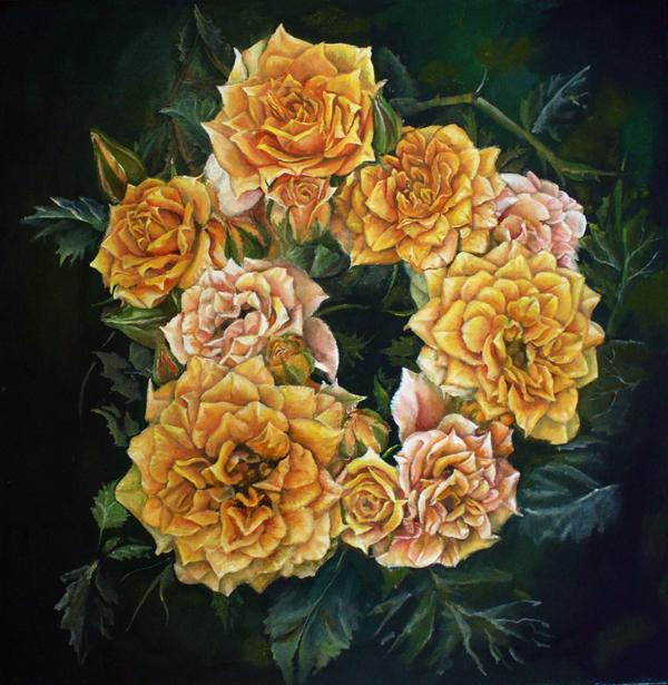 Wreath roses by Vincik
