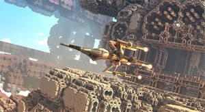 Starship from Fractal Base