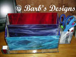 Staind glass desk organizer by Barbsdesigns