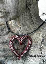 Chinmaille Heart Necklace For Your Valentine by Barbsdesigns