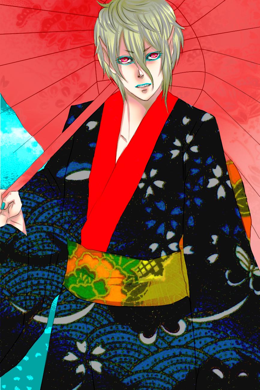 Oni in kimono by Hika-ritsu