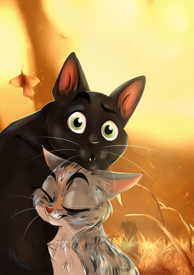 Cat buddies Fussel and Sina by furrytale-ART