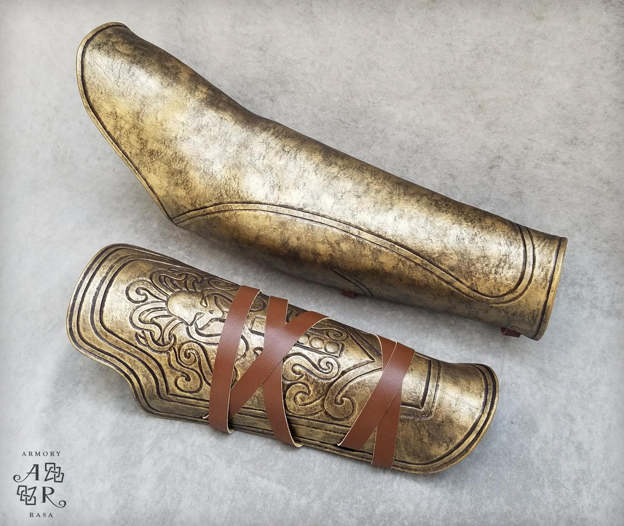 Assassin S Creed Odyssey Greaves By Armory Rasa On Deviantart
