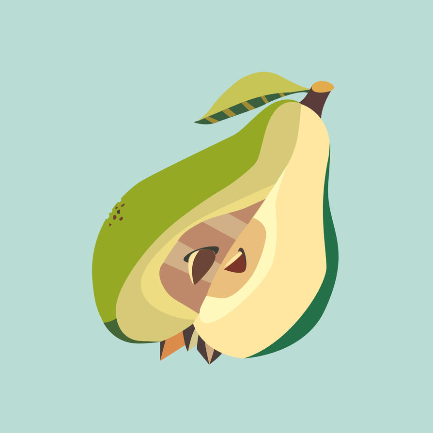 Pear fruit illustration by LIVEyourDR3AM
