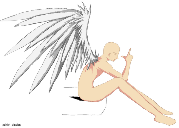 Emo Angel Boy - Base 3 by ~xChibi-Pixelsx on deviantART