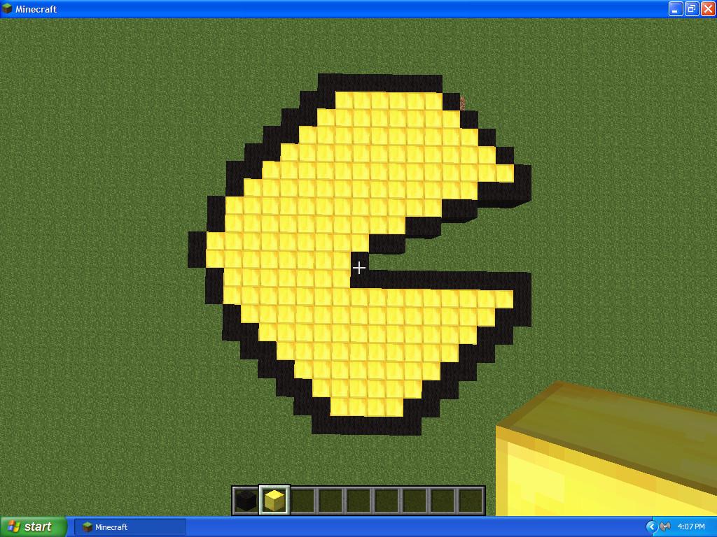 minecraft pixel art pacman by ash080897 on deviantart