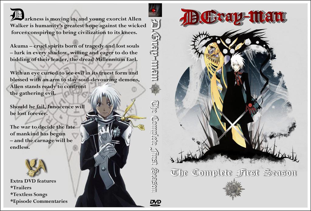 D. Gray-man DVD cover Season 01 by Kyukitsune