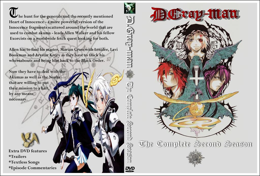 D. Gray-man DVD cover Season 02 by Kyukitsune