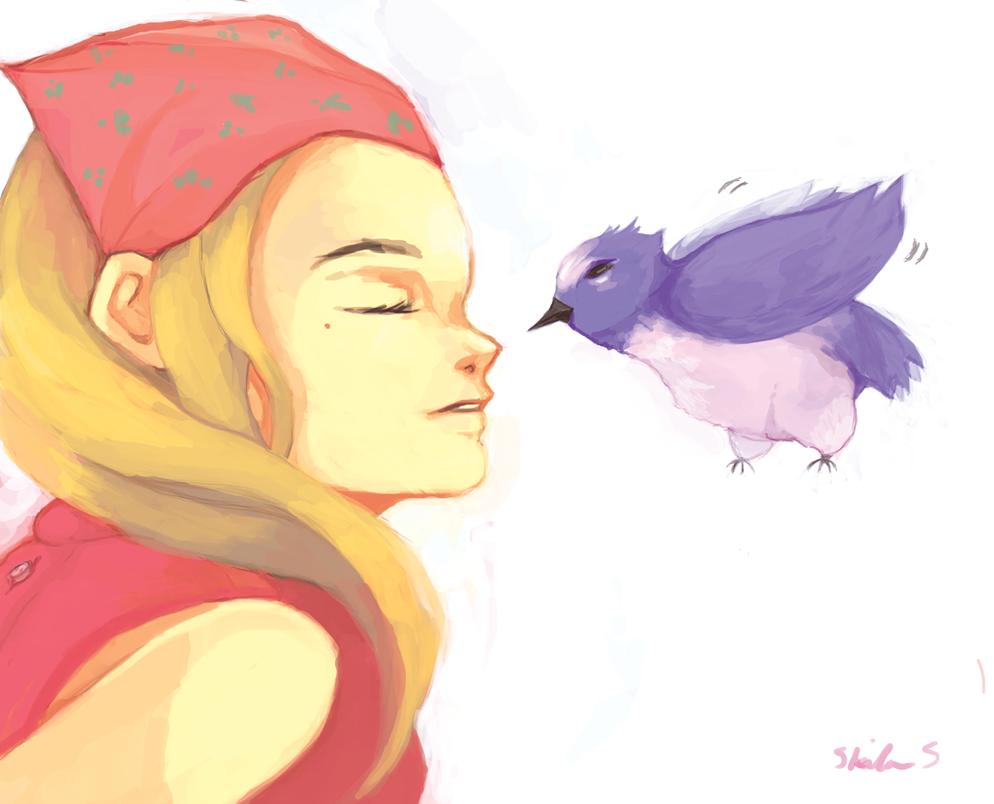 Birdy loveeee by Chaho-Chi