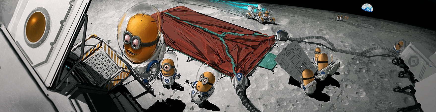 Minion Moon Adventure by HippyHoudini