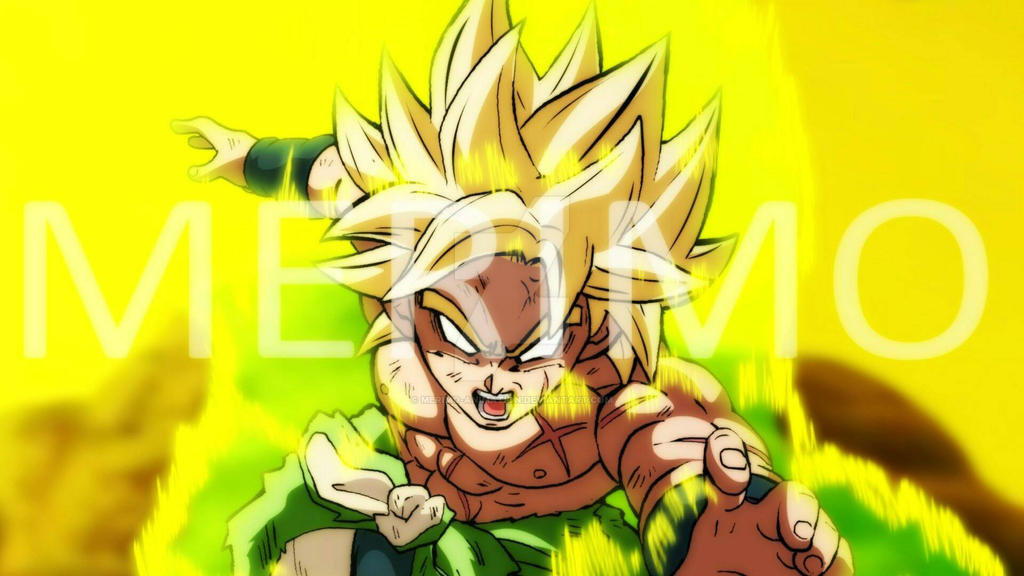 Teen broly unkeashes his super saiyan powers by merimo-animation