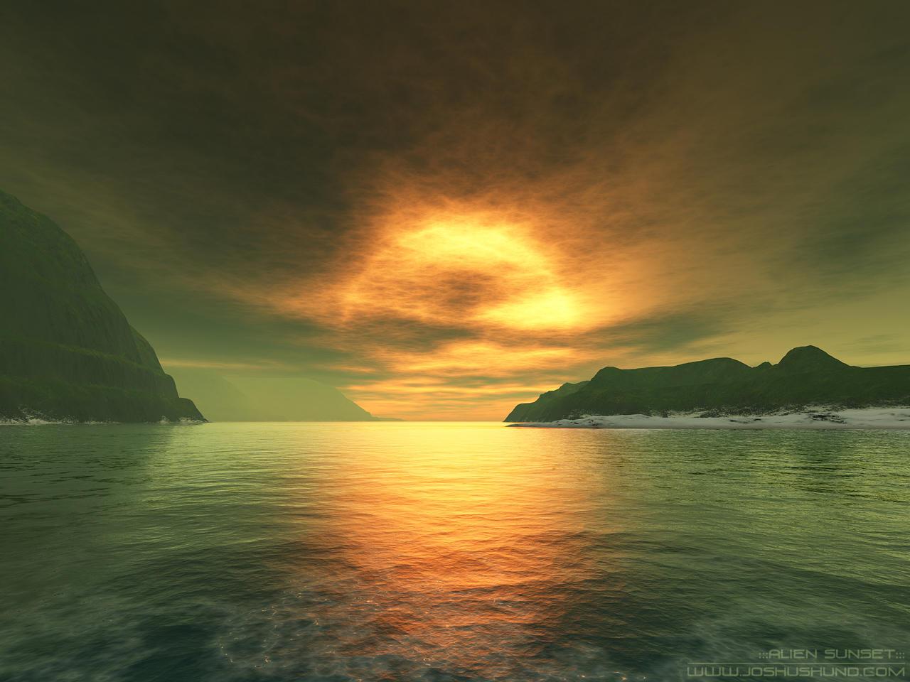 alien sunset wallpaper - photo #5