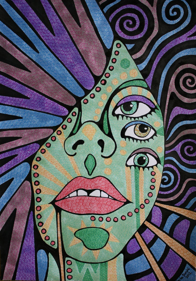 Psychedelic experience by anitadunkl on deviantart for Simple paintings to draw