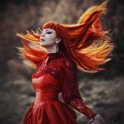 Fiery girl by 13-Melissa-Salvatore