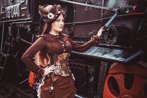 Steampunk Lady by 13-Melissa-Salvatore