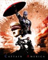 Captain America by ninjaink