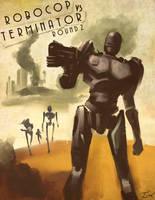 Robocop vs Terminator: Round 2 by ninjaink