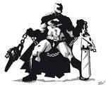 Batman with Chainsaw Nunchucks