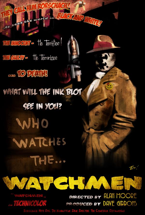 Rorschach Film Noir by ninjaink