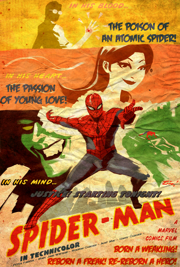 Swingin Spider Man By Ninjaink