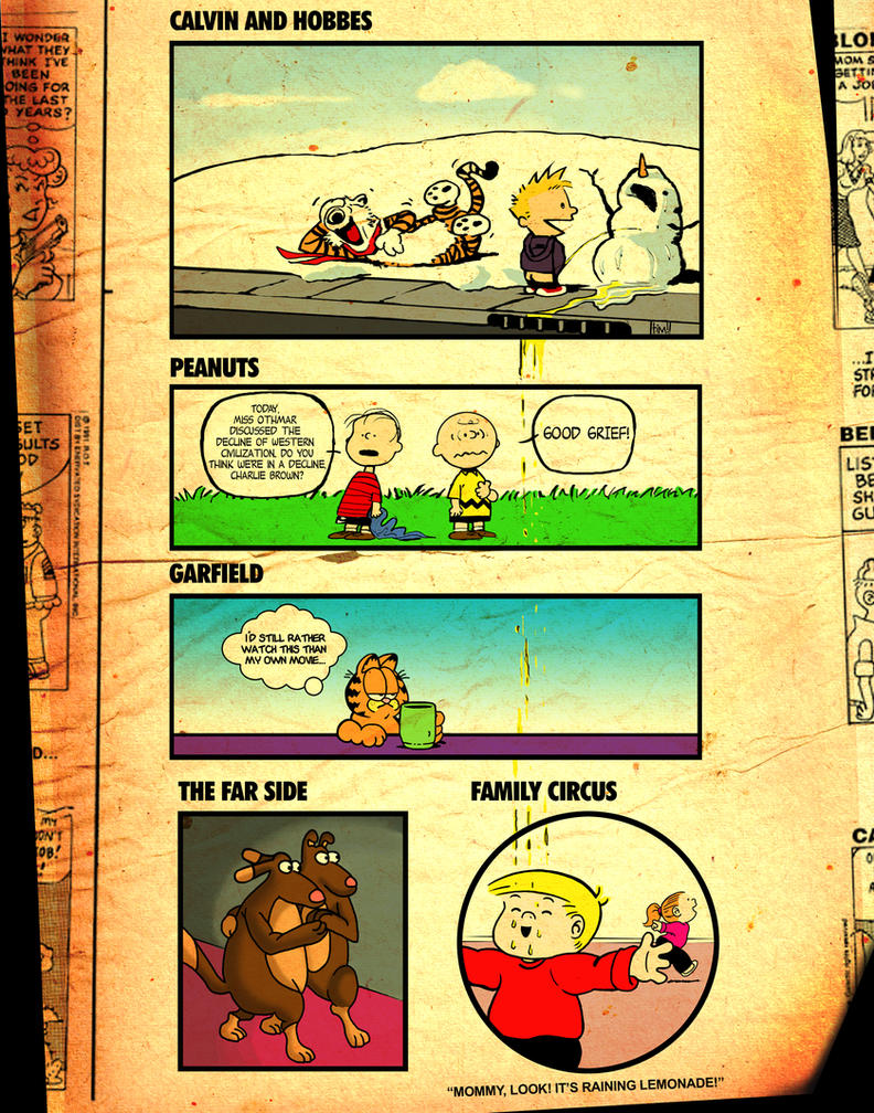 Calvin's Lemonade by ninjaink