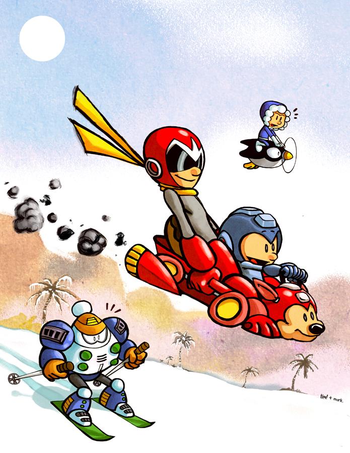 Mega Man Winter by ninjaink