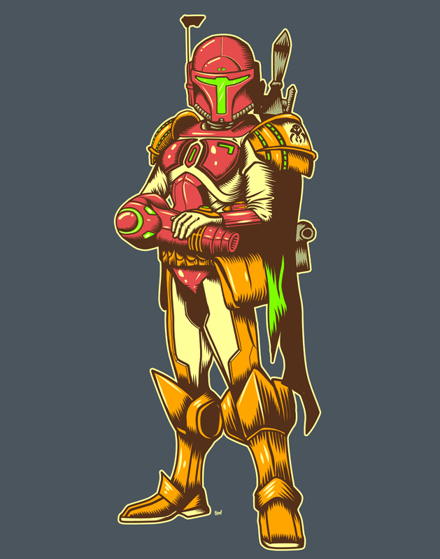Galactic Bounty Hunter by ninjaink