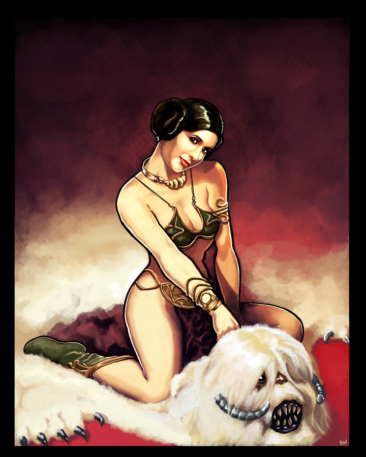 Pin Up Leia by ninjaink