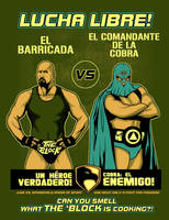 A Real American Lucha by ninjaink