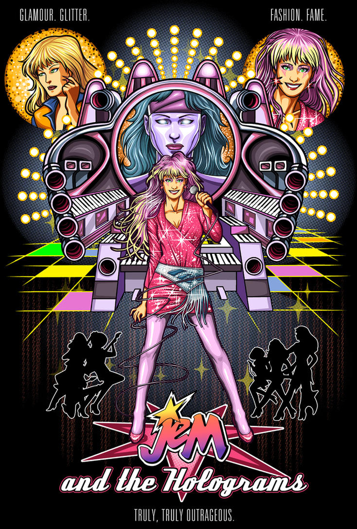 Jem and the Holograms by ninjaink