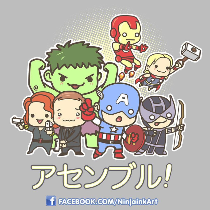 Chibi Avengers by ninjaink