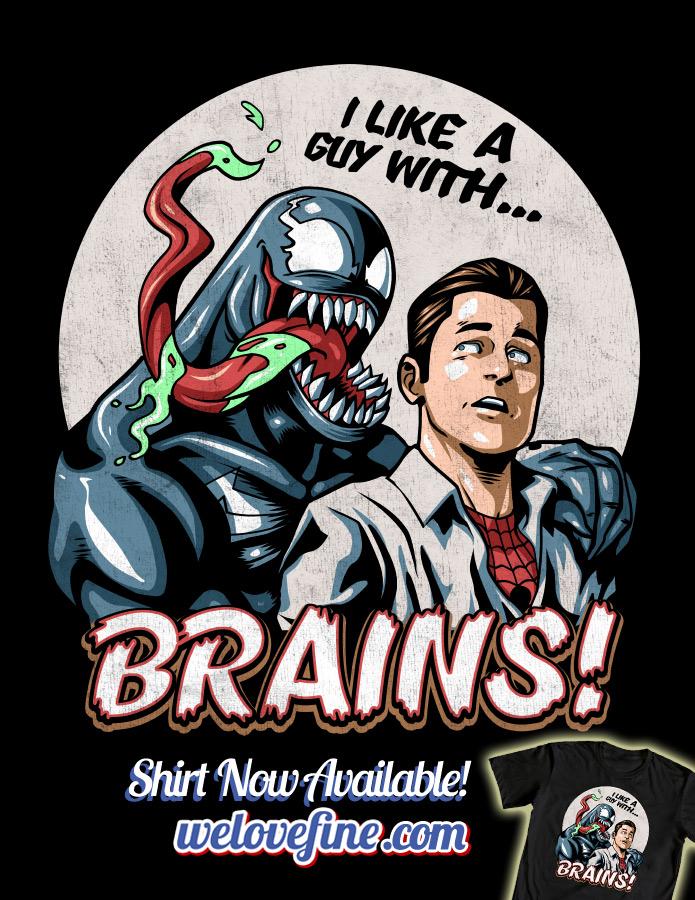 Venom Loves Brains by ninjaink