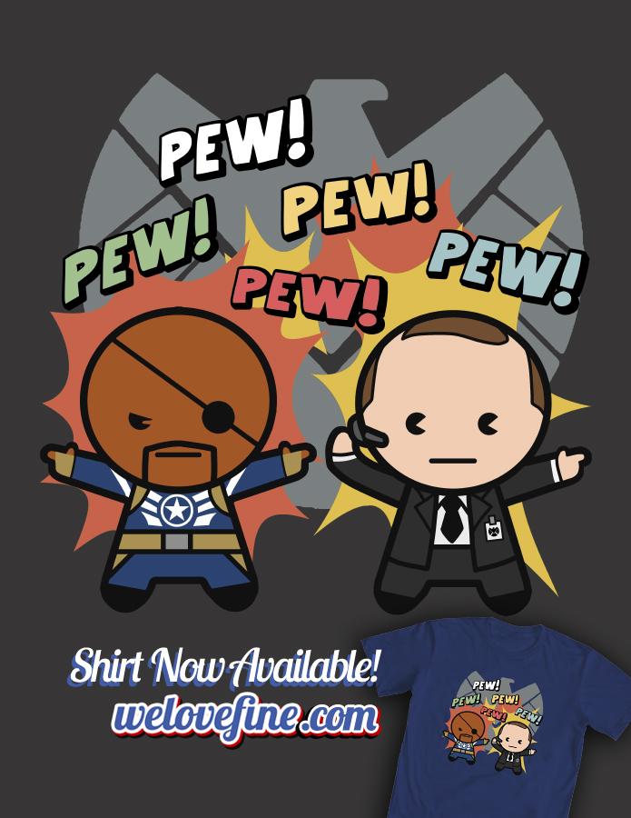 Coulson and Fury Kawaii by ninjaink