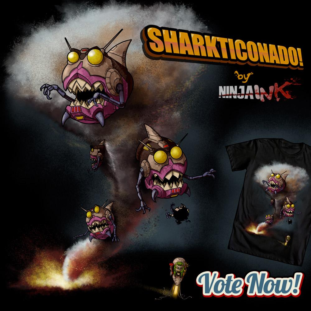 Sharkticonado by ninjaink