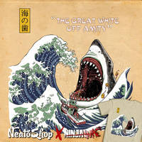 Great White Off Amity by ninjaink