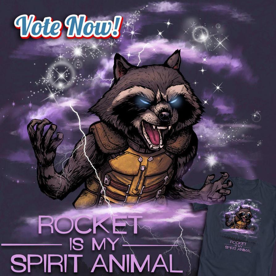 Rocket Is My Spirit Animal by ninjaink