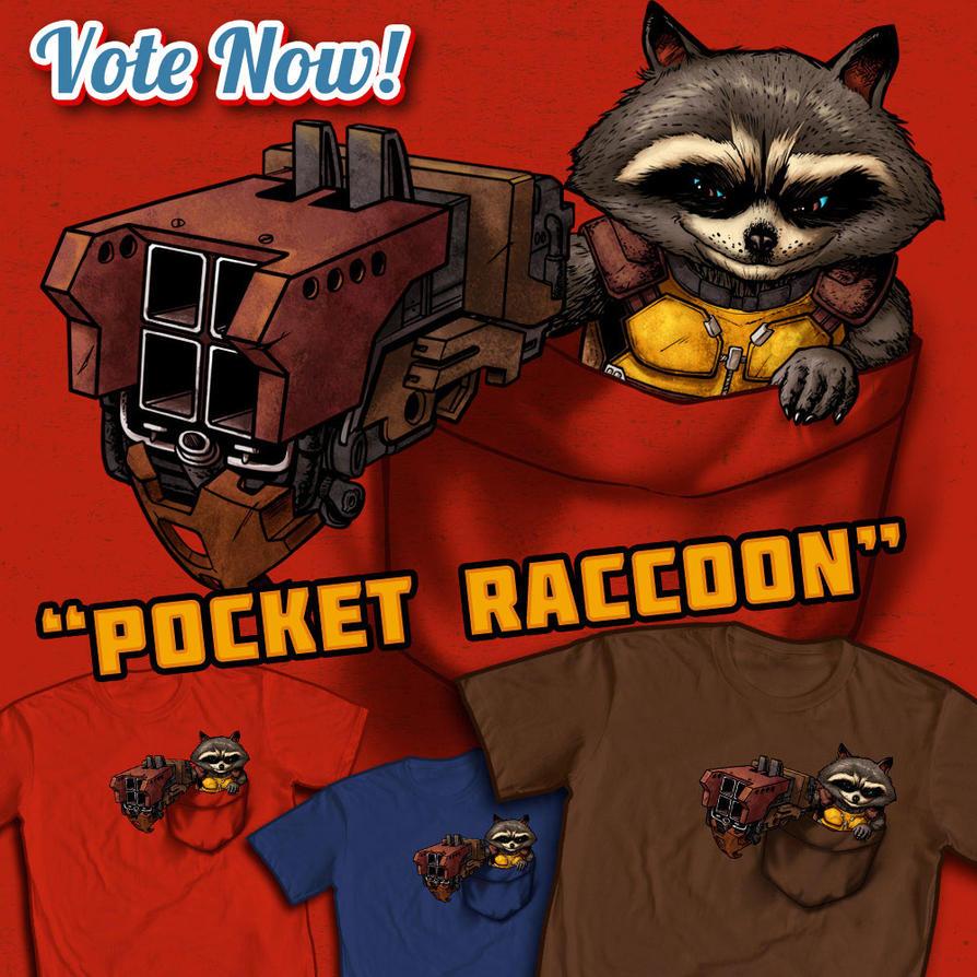 Pocket Raccoon by ninjaink
