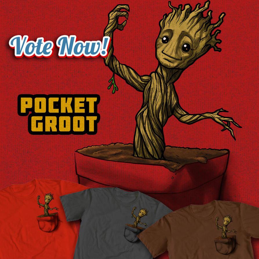 Pocket Groot by ninjaink