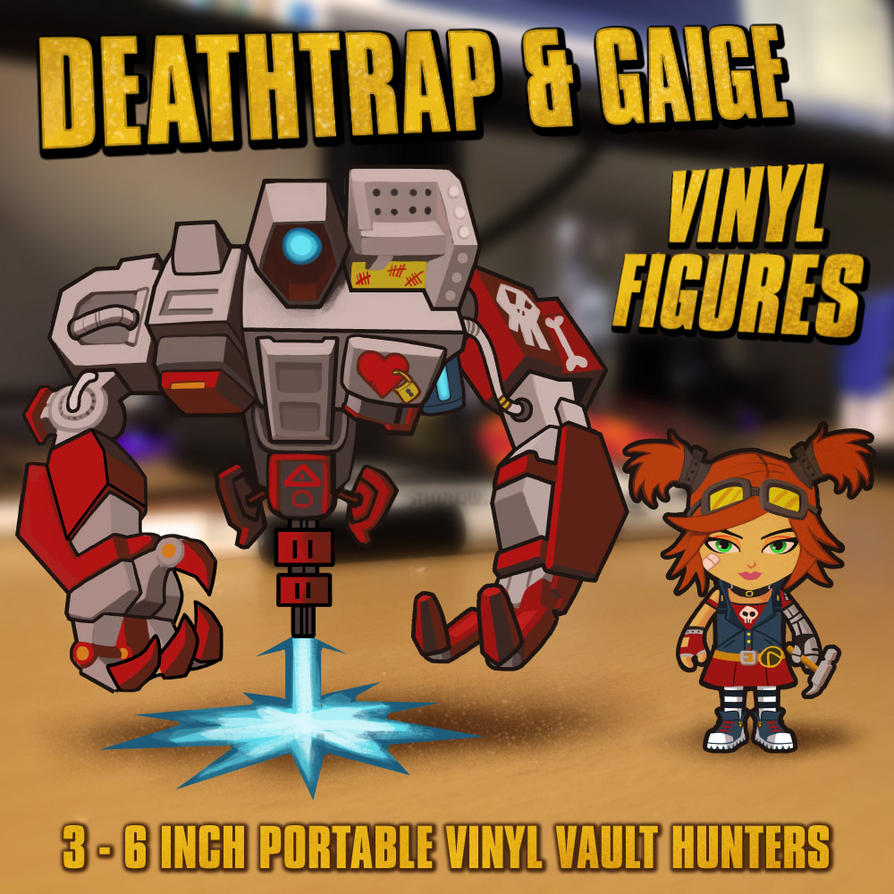 Gaige and Deathtrap Figures by ninjaink
