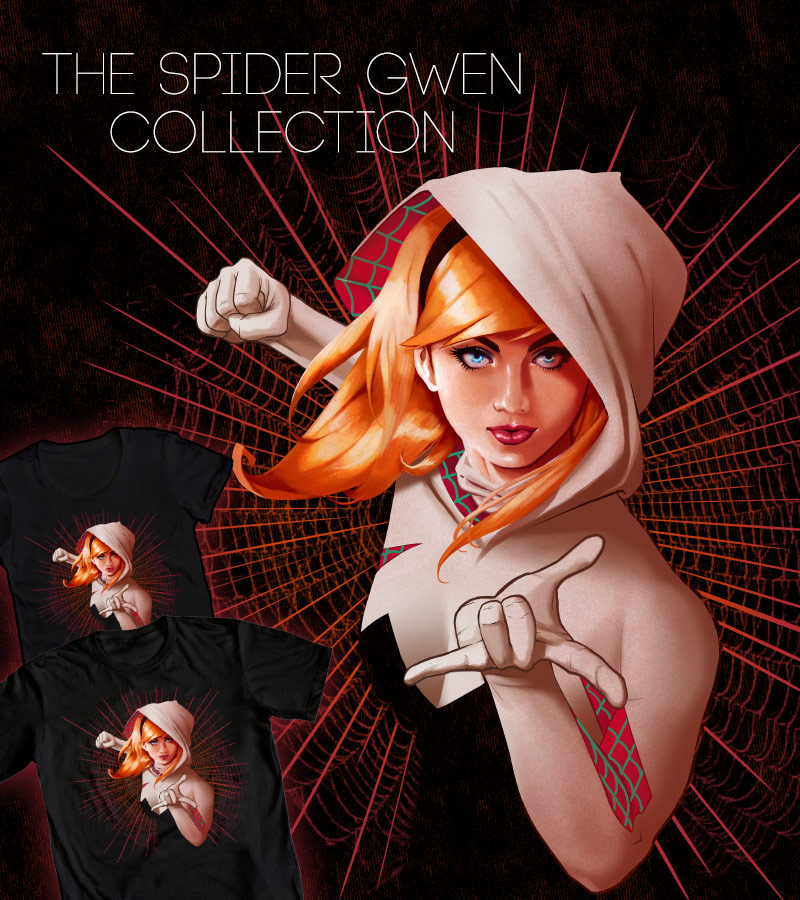 Spider-Gwen Action by ninjaink