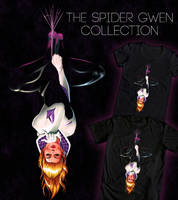 Spider Gwen Hanging by ninjaink
