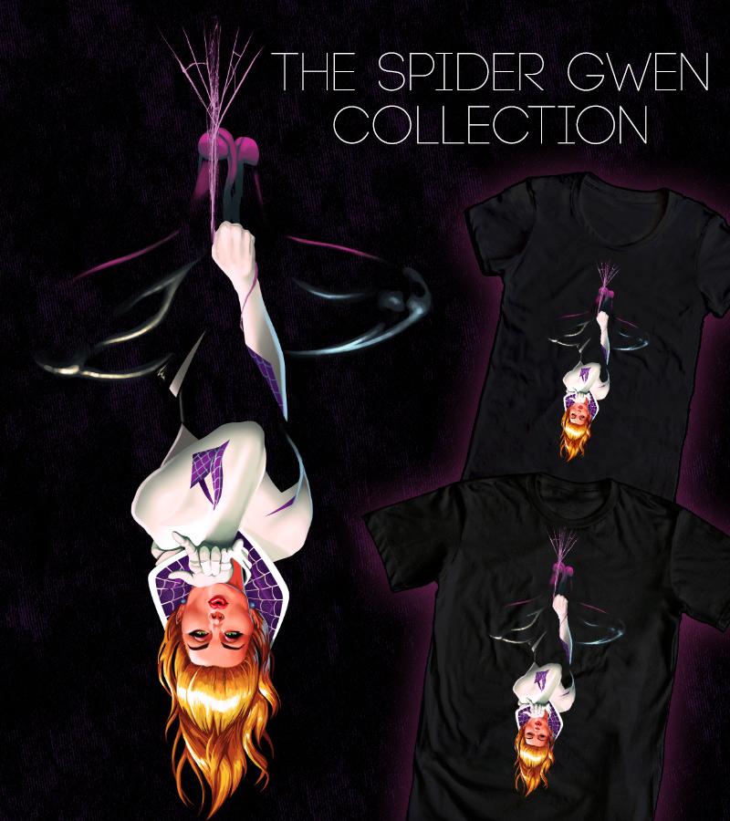 Spider Gwen Hanging by ninjaink